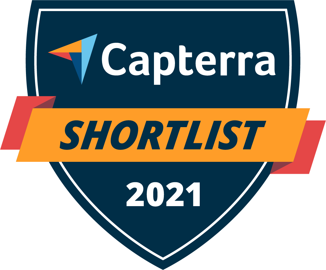 Capterra Shortlist 2021 badge