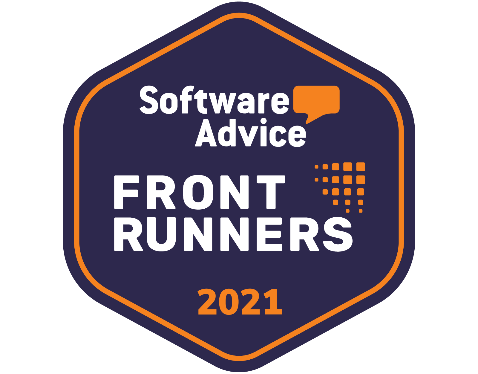 Software Advice Front Runners 2021 badge